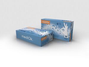 Виниловые перчатки mediOk / Бесцветные