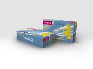 Нітрилові рукавички mediOk / Жовті