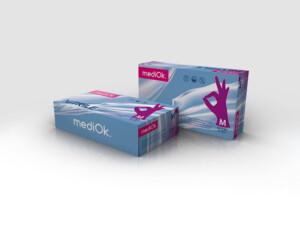 Нітрилові рукавички mediOk / Пурпурові