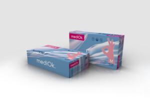 Нітрилові рукавички mediOk / Рожеві (Фламінго)