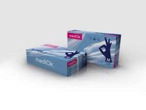 Нитриловые перчатки mediOk / Черничные