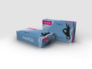 Нитриловые перчатки mediOk / Черные (Black+)