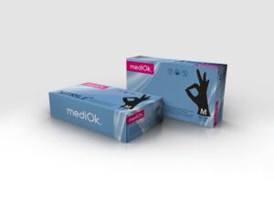 Нітрилові рукавички mediOk / Чорні