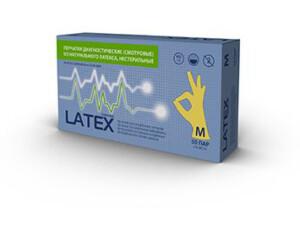 Латексні рукавички mediOk / Опудренi