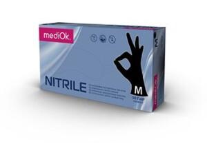 Нитриловые перчатки mediOk / Черные