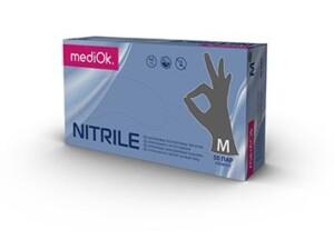 Нитриловые перчатки mediOk / Серые
