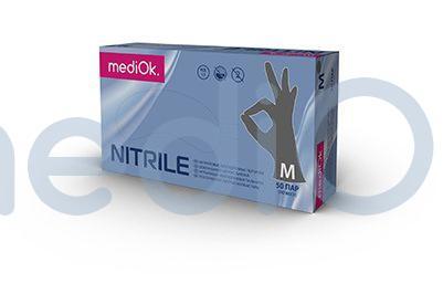 Нітрилові рукавички mediOk / Сірі