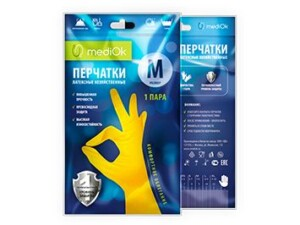 Латексные перчатки mediOk / Хозяйственные
