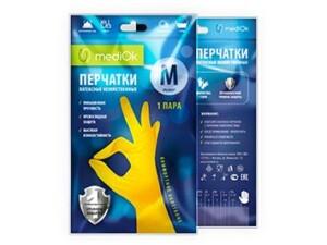 Латексні рукавички mediOk / Господарські