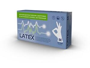 Латексні рукавички mediOk / Непудровані