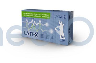 Латексные перчатки mediOk / Неопудренные