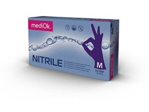 Нітрилові рукавички mediOk / Фіолетові
