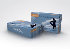 Витрил (винил синтетик) перчатки mediOk / Черные