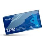 Перчатки из термопластичного эластомера mediOk (ТПЭ) / Голубые